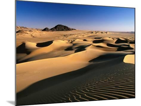 Sand Dunes of Ilekane in Tenere Part of Sahara Desert Near Agadez-Frans Lemmens-Mounted Photographic Print