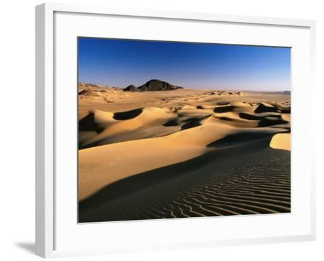 Sand Dunes of Ilekane in Tenere Part of Sahara Desert Near Agadez-Frans Lemmens-Framed Art Print