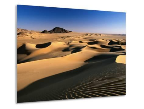 Sand Dunes of Ilekane in Tenere Part of Sahara Desert Near Agadez-Frans Lemmens-Metal Print