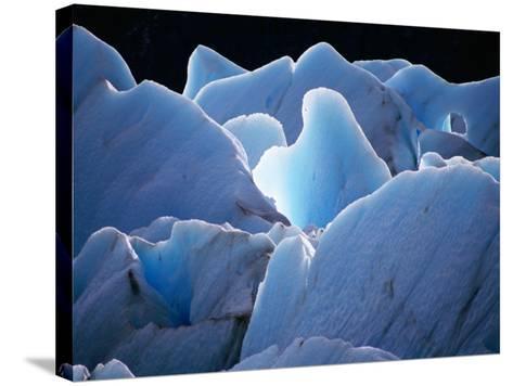 Interlocking Seracs of the Glaciar Torre-Gareth McCormack-Stretched Canvas Print