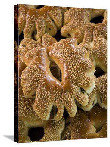 Special Ramadan Bread, Souq Al-Hamidiyya Covered Market-Holger Leue-Stretched Canvas Print