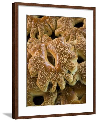 Special Ramadan Bread, Souq Al-Hamidiyya Covered Market-Holger Leue-Framed Art Print