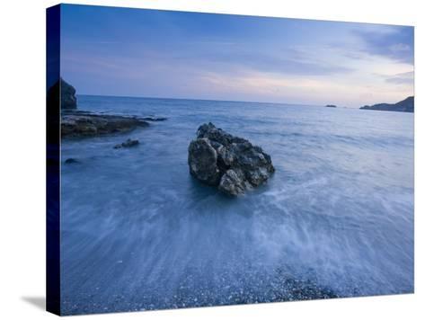 Dusk on the Southern Crete Coastline-Gareth McCormack-Stretched Canvas Print