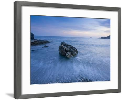 Dusk on the Southern Crete Coastline-Gareth McCormack-Framed Art Print