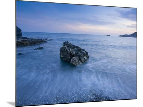 Dusk on the Southern Crete Coastline-Gareth McCormack-Mounted Photographic Print