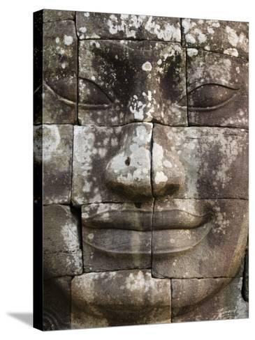 Detail of Face Towers at Bayon-Grant Dixon-Stretched Canvas Print
