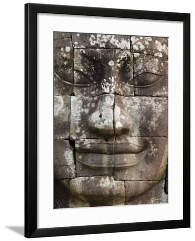 Detail of Face Towers at Bayon-Grant Dixon-Framed Art Print
