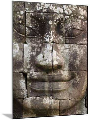 Detail of Face Towers at Bayon-Grant Dixon-Mounted Photographic Print