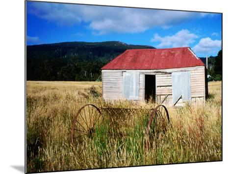 Old Shed and Farm Equipment Near Cloudy Bay-Holger Leue-Mounted Photographic Print
