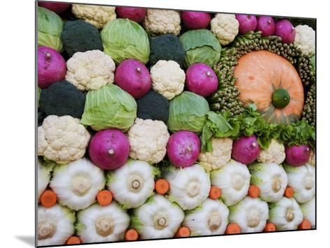 Vegetable Display at Yoyogi Park Agricultural Festival-Gerard Walker-Mounted Photographic Print