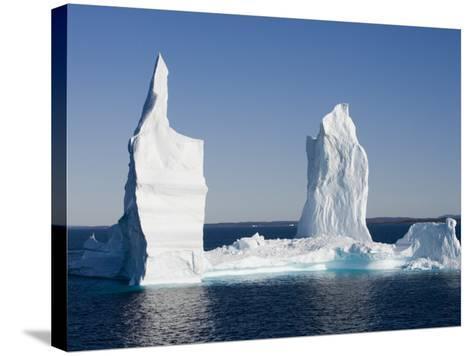 Iceberg from Ilulissat Kangerlua Icefjord-Holger Leue-Stretched Canvas Print
