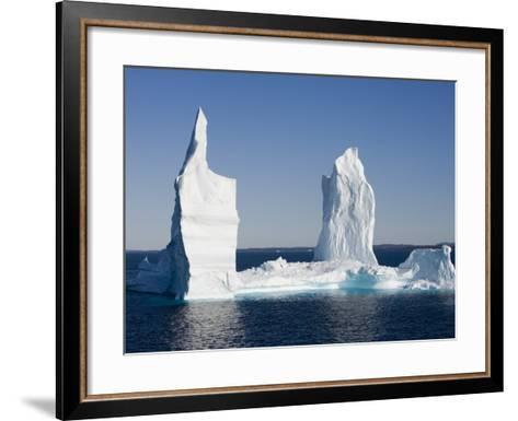 Iceberg from Ilulissat Kangerlua Icefjord-Holger Leue-Framed Art Print