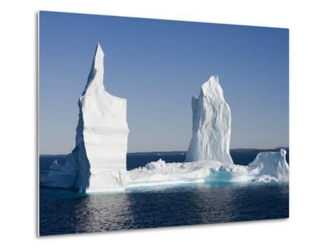 Iceberg from Ilulissat Kangerlua Icefjord-Holger Leue-Metal Print