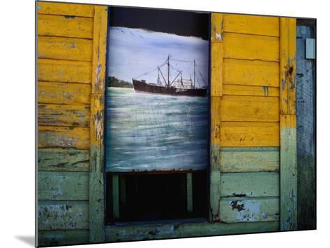 Painting on Screen at Entrance to Bar-Jeffrey Becom-Mounted Photographic Print