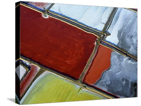 Aerial of Salt Pans-Johnny Haglund-Stretched Canvas Print