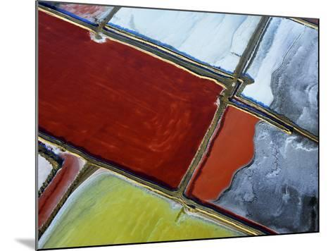 Aerial of Salt Pans-Johnny Haglund-Mounted Photographic Print