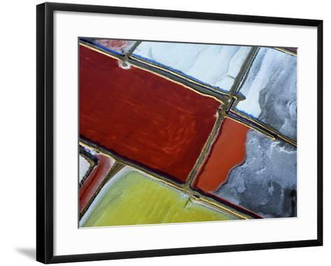 Aerial of Salt Pans-Johnny Haglund-Framed Art Print