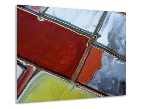 Aerial of Salt Pans-Johnny Haglund-Metal Print