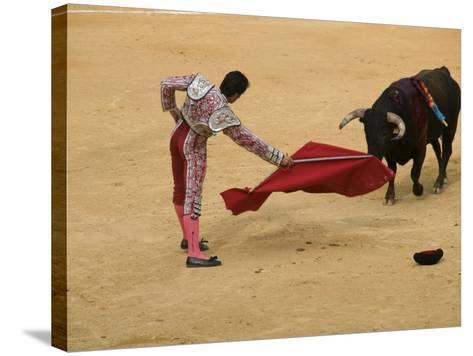 Bullfight at Plaza De Toros De Valencia-Krzysztof Dydynski-Stretched Canvas Print
