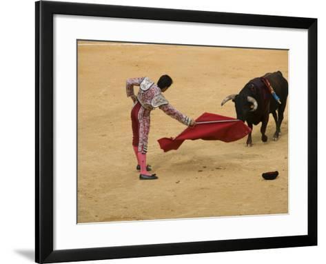 Bullfight at Plaza De Toros De Valencia-Krzysztof Dydynski-Framed Art Print