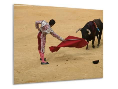 Bullfight at Plaza De Toros De Valencia-Krzysztof Dydynski-Metal Print