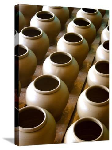 Clay Pots-John Borthwick-Stretched Canvas Print
