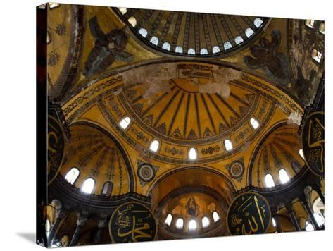 Interior of the Church of the Divine Wisdom at Aya Sofya-Kimberley Coole-Stretched Canvas Print