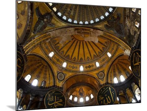 Interior of the Church of the Divine Wisdom at Aya Sofya-Kimberley Coole-Mounted Photographic Print