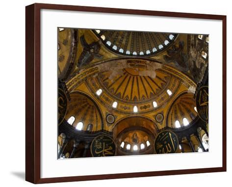 Interior of the Church of the Divine Wisdom at Aya Sofya-Kimberley Coole-Framed Art Print