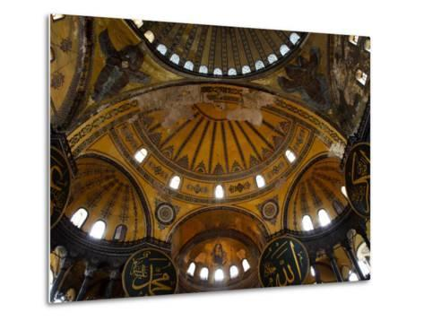 Interior of the Church of the Divine Wisdom at Aya Sofya-Kimberley Coole-Metal Print