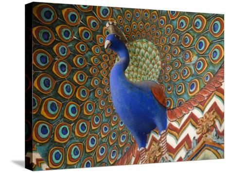 Peacock Gate in Pitam Niwas Chowk at City Palace-Kimberley Coole-Stretched Canvas Print