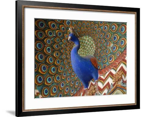 Peacock Gate in Pitam Niwas Chowk at City Palace-Kimberley Coole-Framed Art Print