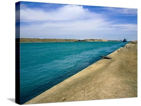 Blue Waters of Suez Canal-Jane Sweeney-Stretched Canvas Print