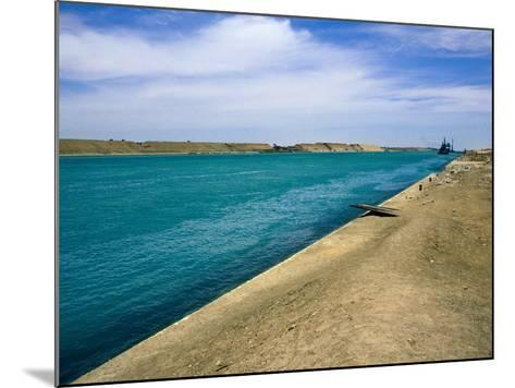 Blue Waters of Suez Canal-Jane Sweeney-Mounted Photographic Print