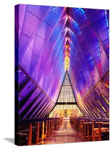Cadet Chapel Interior, Us Air Force Academy-John Elk III-Stretched Canvas Print