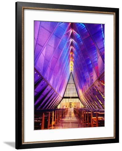 Cadet Chapel Interior, Us Air Force Academy-John Elk III-Framed Art Print