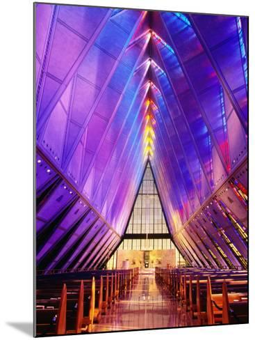 Cadet Chapel Interior, Us Air Force Academy-John Elk III-Mounted Photographic Print