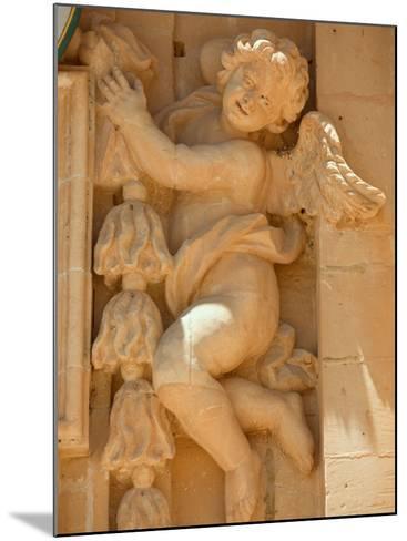 Cherub Detail at Church of Gharb-Jean-pierre Lescourret-Mounted Photographic Print