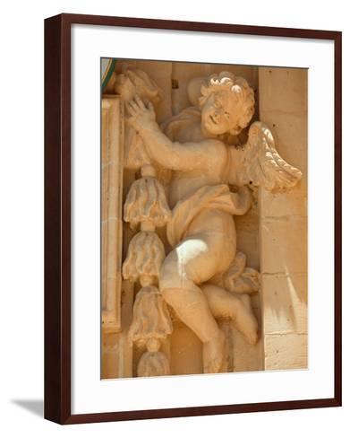 Cherub Detail at Church of Gharb-Jean-pierre Lescourret-Framed Art Print