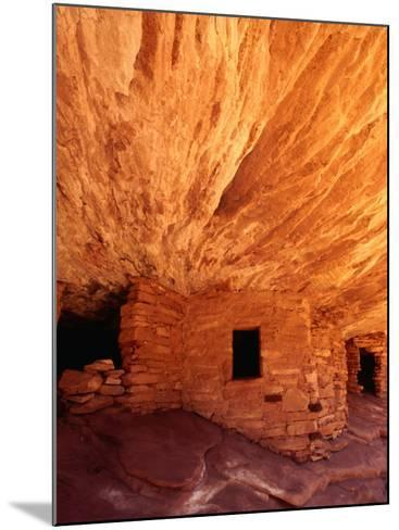 Ancestral Puebloan Cliff Dwellings at House on Fire Ruin in Mule Canyon, Cedar Mesa-Karl Lehmann-Mounted Photographic Print