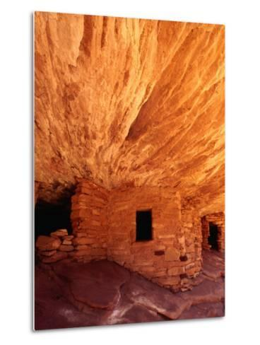 Ancestral Puebloan Cliff Dwellings at House on Fire Ruin in Mule Canyon, Cedar Mesa-Karl Lehmann-Metal Print