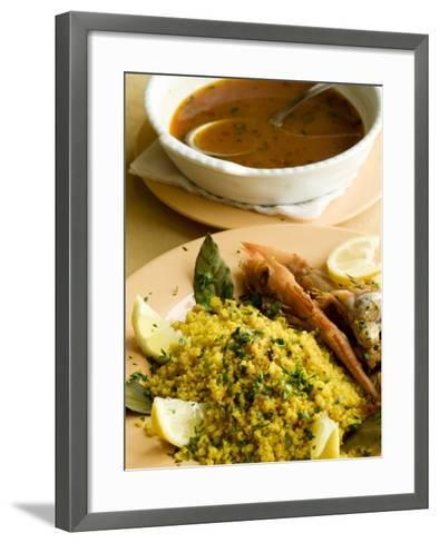 Fish Couscous, North African Dish, also a Speciality on the West Coast of Sicily-Olivier Cirendini-Framed Art Print