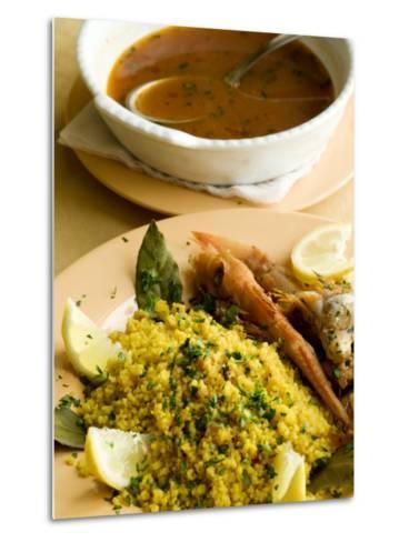 Fish Couscous, North African Dish, also a Speciality on the West Coast of Sicily-Olivier Cirendini-Metal Print