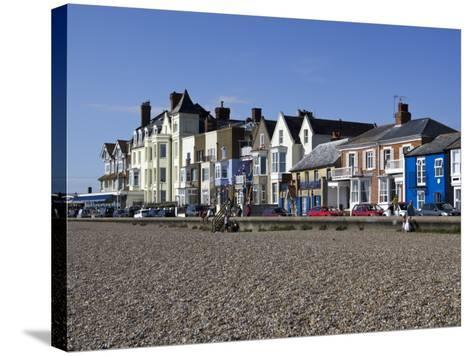 Seafront Buildings at Aldeburgh-Neil Setchfield-Stretched Canvas Print