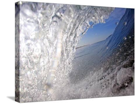 Surfer's Perspective Looking Out Barrel of Wave, at Popular Surfing Beach Playa Aserradores-Paul Kennedy-Stretched Canvas Print