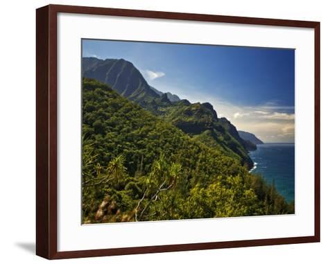 Na Pali Coast, as Seen from the Kalalau Trail-Merten Snijders-Framed Art Print