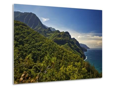 Na Pali Coast, as Seen from the Kalalau Trail-Merten Snijders-Metal Print
