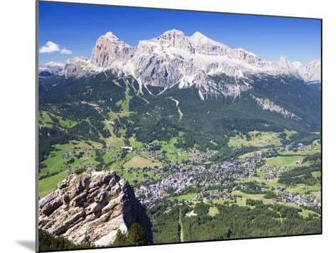 Mountain-Top View of Cortina D'Ampezzo and Peak of Tofana-Andrew Bain-Mounted Photographic Print