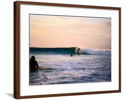 Surfing at Avellanas Beach, Nicoya Peninsula-Aaron McCoy-Framed Art Print