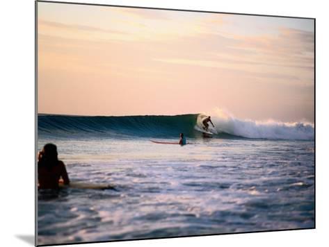 Surfing at Avellanas Beach, Nicoya Peninsula-Aaron McCoy-Mounted Photographic Print